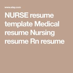 Nurse Resume Template For Word  Pages Nurse Cv Doctor  Various