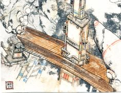 Watchtower and bridge small study for the by WhiteIslandWorks, Small Study, Bridge, Island, Bridges, Islands, Small Den, Legs, Attic Rooms, Bro