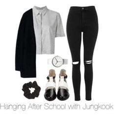 Hanging After School with Jungkook