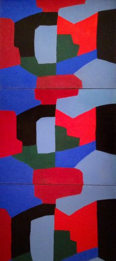 Serge Poliakoff (1906~1969) was a Russian-born French modernist painter belonging to The 'New' Ecole de Paris (Tachisme)