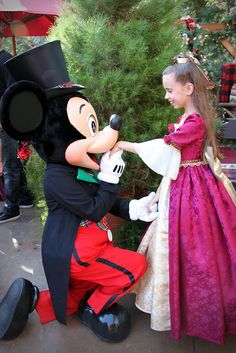 Mickey and Little Christmas Belle!