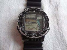 """É da sua Época? Quem se lembra ou tinha o """"Relógio Citizen Windsurf"""" em meados anos 90? Foi um dos sucessos na época, os homens ado..."""