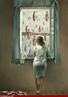 It's Raining Fish by Magritte