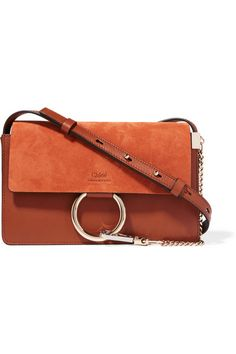Chloé - Faye small leather and suede shoulder bag 6f3d111318cce