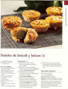 Pasteles de brocoli y bacon