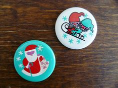 Soviet pin Christmas badge brooches set of 2 Father by AtticSpider, $6.60