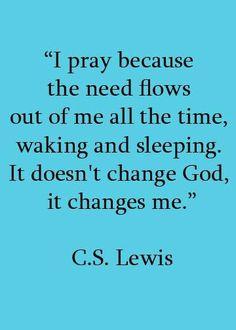 CS Lewis on prayer