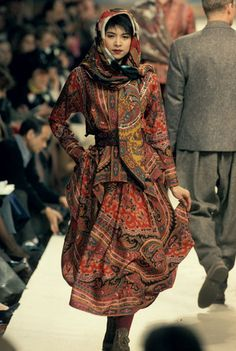 Kenzo Takada. he is a Japanese designer. He opened his boutique Jungle Jap in New York. His style is bright color and blended eastern and western influences.