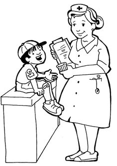 Nurse Coloring Pages Kindergarten. print coloring image Nurse Coloring Book Pages  Doctor Day cartoon pages