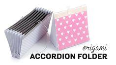Origami Accordion Folder Document Organizer Paper Kawaii #origami #paperkawaii