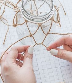 23 Clever DIY Christmas Decoration Ideas By Crafty Panda Diy Arts And Crafts, Handmade Crafts, Decoration Plante, Bullet Journal Ideas Pages, Macrame Patterns, Macrame Knots, Dollar Store Crafts, Bottles And Jars, Mason Jar Crafts