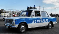 Lada 1200 - Hungarian police car in the Blue Bayou, Car Badges, Rescue Vehicles, Military Vehicles, Police Vehicles, Emergency Vehicles, Police Cars, Fire Trucks, Law Enforcement Officer