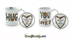 Hug Mug, Send a gift, teddy bears, Canada, Hug You, Teddy Bears, Canada, Mugs, Gifts, Presents, Tumblers, Teddybear, Mug