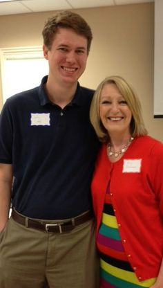 For the Louisiana Baptist conference on aging in 2013... pictured here with a wonderful young United Methodist minister at the event.