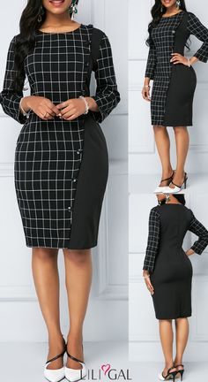 Talk of a statement dress! Classy Work Outfits, Casual Work Dresses, Classy Dress, Dresses For Work, African Wear Dresses, Latest African Fashion Dresses, Women's Fashion Dresses, Official Dresses, Office Dresses For Women