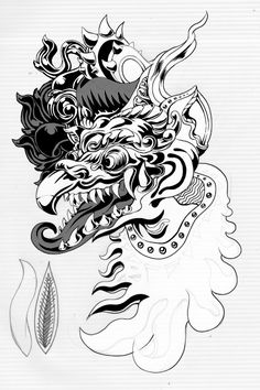 balinese mask tattoo - Google Search