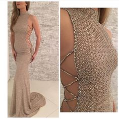 Mermaid Prom Dress,Beaded Prom Dress,Fashion Prom Dress,Sexy Party Dress,Custom Made Evening Dress