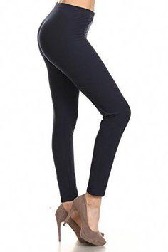 6d7f0832e4b Leggings Depot Ultra Soft Basic Solid Plain Best Seller Leggings Pants  (Plus Size (Size
