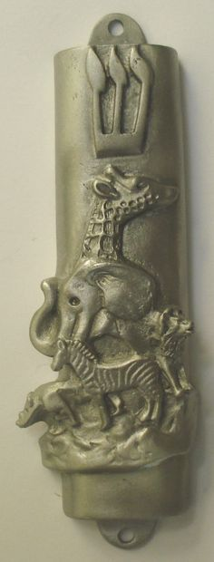 Pewter Mezuzah Noah's Ark  Detailed Design  Does by BJCRYSTALGIFTS