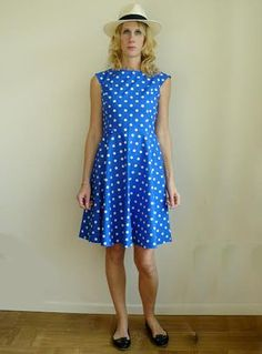 Rino Pion blå med vita prickar Summer Dresses, Clothes, Style, Fashion, Summer Sundresses, Moda, Clothing, Sundresses, Stylus