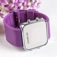 New Fashion Unisex LED Display Quartz Waterproof Analog Wristwatch