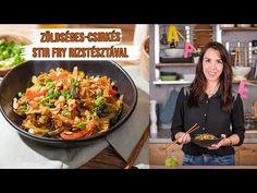 Zöldséges-csirkés🤩 STIR FRY 🥢rizstésztával🥢 - YouTube Kung Pao Chicken, Japchae, Stir Fry, Fries, Asian, Ethnic Recipes, Youtube, Beverages, Food