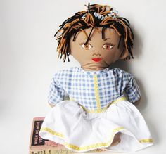Middle Eastern Girl Doll OOAK Soft Bodied Hand by Meoneil on Etsy, $45.00