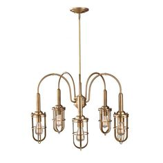 Murray Feiss F2826/5DAB Urban Renewal Chandelier In Dark Antique Brass #Transitional