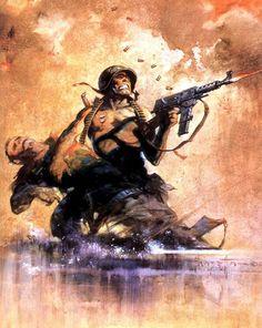 Combat by Frank Frazetta