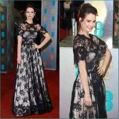 HG277 Elegant Evening Dress,Celebrity Dresses,Cinderella Lily James Dress,Black