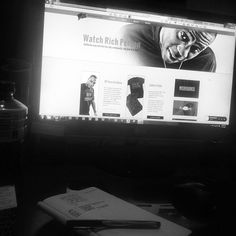 Quick snap of RP's site getting built. Visit the finished product, click through!  #web #design #music #new #artist #hiphop #WIP #branding