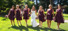 walking with the bridesmaids