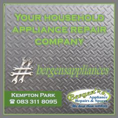Domestic Appliance Repairs and Spares is our specialty - We keep them working. We aim to repair domestic appliances with the utmost sense of urgency and professionalism, creating community based service outlets in the form of franchises. Appliance Repair, Appliance Parts, Bergen, Air Company, Home Automation, Quotations, Household, Appliances, Business