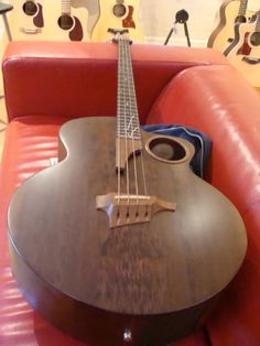 Taylor AB-2 Fretted Electric Acoustic Bass, imbuia top, back and sides 1997