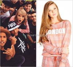 With dancers from the 1989 World Tour (x)  Wildfox Couture 'London Plaid Baggy Beach Jumper' - $128.00 $89.60
