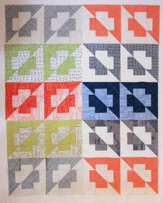 The Plus Side (quilt pattern) by Kirsty at Bonjour Quilts. Made in Carolyn
