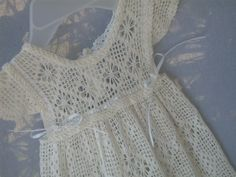 Antique Reproduction, Christening, Gown, Heirloom, Handmade, Crochet, Infant, Girl, Fashionable,CIC