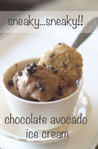 JUST CALL ME SNEAKY {chocolate avocado ice cream} - |
