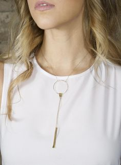 3 Ring Necklace Gold Plated