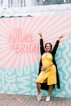 """""""Be Each Other's Wing Woman"""" — The Showstopping Moments You Missed From Our Austin Pop Up — Create + Cultivate Think Tank, Instagram Wall, School Murals, Mural Wall Art, Bright Future, Looking For Women, Women Empowerment, Photo Booth, Pop Up"""