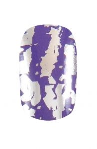 Purple and Silver Nail Wraps |Hollywood Nail Design £5.50 for a pack of 15.