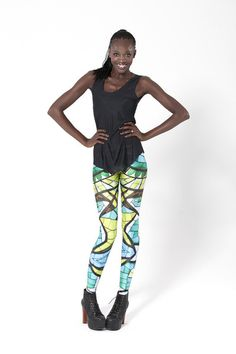 Glass Lorikeet Leggings › Black Milk Clothing. I really think these are such a bm classic. Staple item ;P