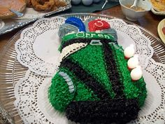 golf bag cake perfect for The Masters