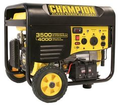 Champion Power Equipment 46539 4000 Watt 196cc 4-Stroke Gas Powered Portable Generator With Wireless Remote Electric Start (CARB Compliant)