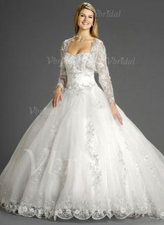 Wedding Dresses - $295.31 - Ball-Gown Strapless Sweetheart Chapel Train Organza Wedding Dress With Lace Beading (00205000199)