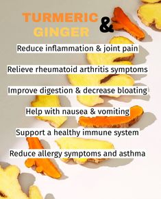 Ginger and Turmeric are two of the most extensively studied ingredients in herbal medicine? Both are rhizomes, or root stalks, used around the world for centuries, not only as food seasoning but also as traditional herbal medicines. And a lot more… Get your Turmeric & Ginger supplement here www.HerbalCodeLabs.com Ginger Extract, Turmeric Extract, Turmeric Curcumin, Turmeric Root, Ginger Supplement, How To Help Nausea, Rheumatoid Arthritis Symptoms, Allergy Symptoms