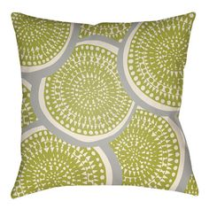 """Artistic Weavers Litchfield Summerville Outdoor Throw Pillow Size: 20"""" H x 20"""" W, Color: Lime Green/Ivory"""