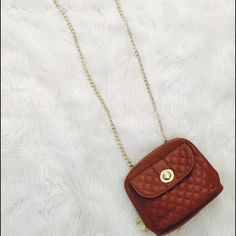 Steve madden crossbody bag Gold tone chain used but good condition side pocket for phone inside has a small makeup stain shown in pics above Steve Madden Bags Crossbody Bags