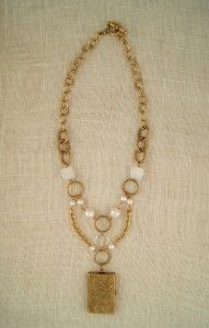 ExVoto Vintage Eve Necklace with Mollie Locket #vintage #jewelry #vintagenecklace #necklace #vintagelocket #locket