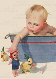 Babies Bathtime Illustrator: E.N. Donaldson Imprint: Laughing Elephant Toys';  http://greentigerpress.com/product-00336b/#